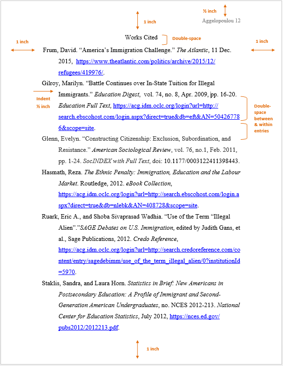Example of APA bibliography page