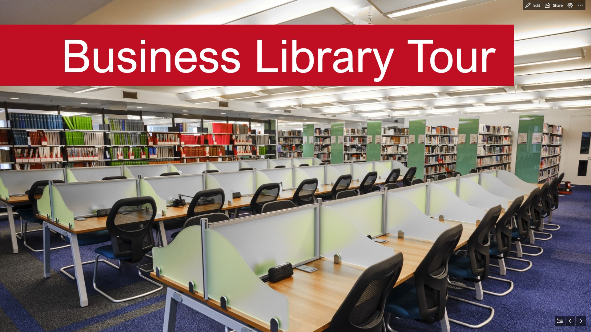 Video thumbnail for Business Library tour