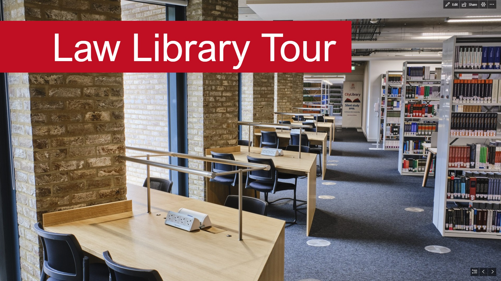 Video thumbnail for Law Library tour