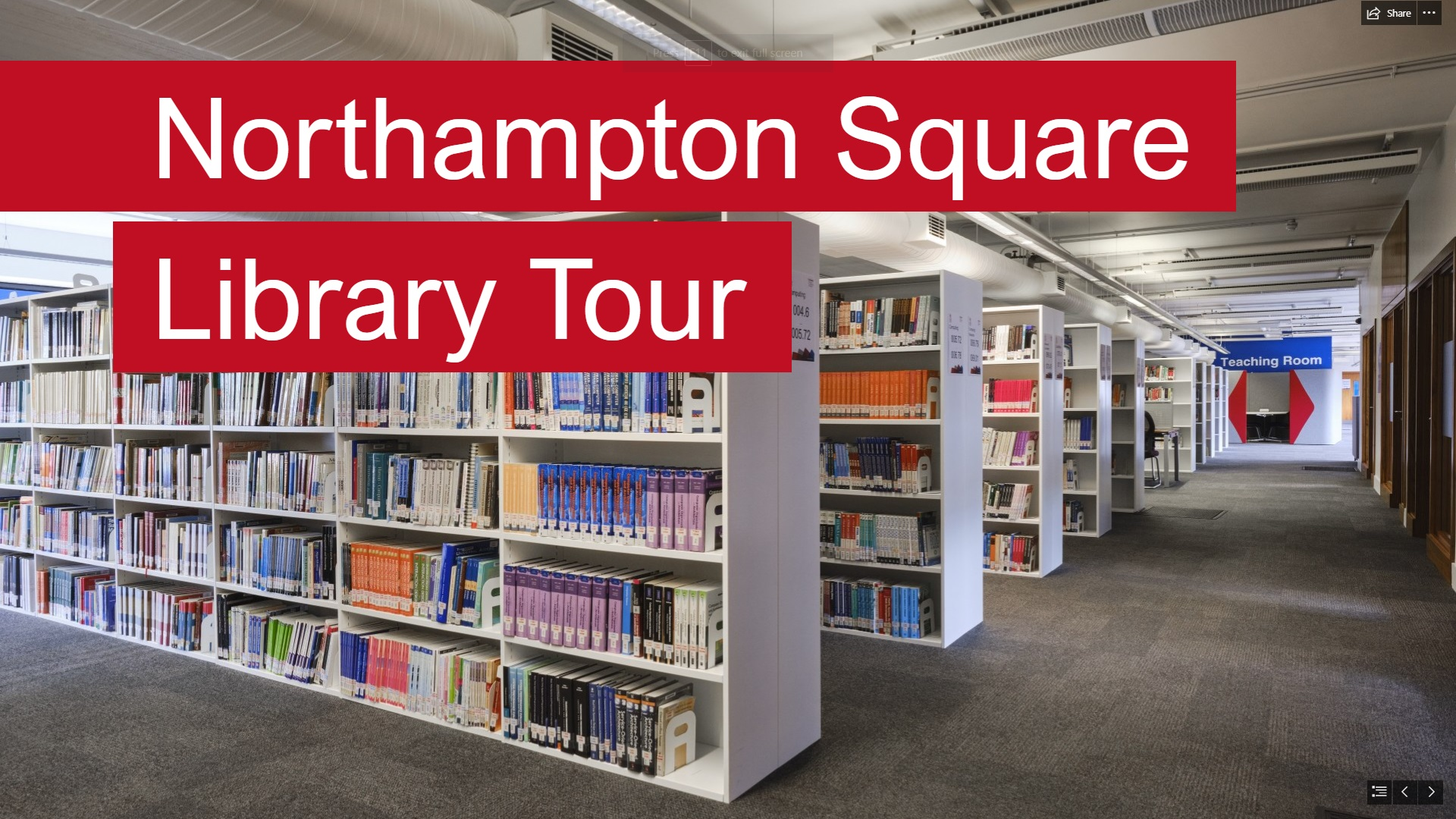 Video thumbnail for Northampton Square Library tour