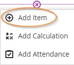 Add item to gradebook list view