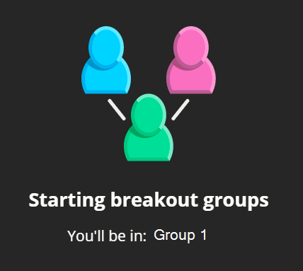 It can take up to ten seconds for the breakout groups to load