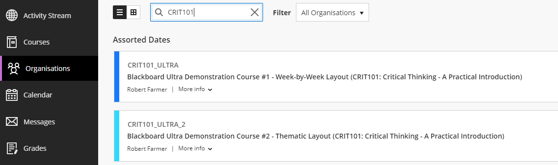 CRIT101 Ultra Development Courses