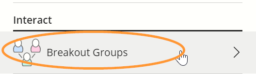 The breakout groups option is the last item in the share panel.