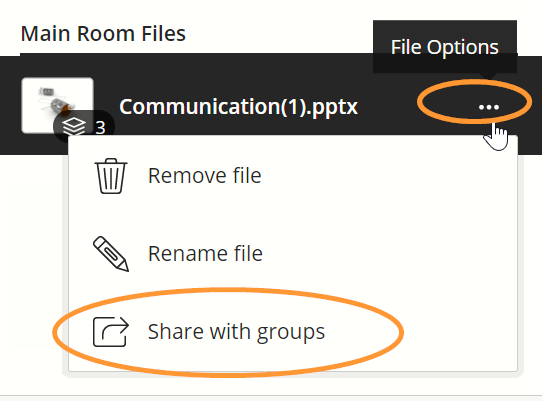 The menu next to each file is labelled File Options.