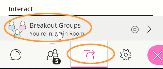 The Share Content item is third in the collaborate panel menu.