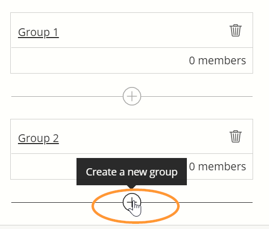 The option is labelled Create a new group.