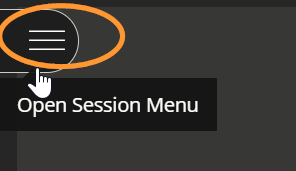 The internal link is labelled open session menu.