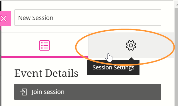 The edit panel is split into details and settings. Settings will not show until it has been selected as the active panel.