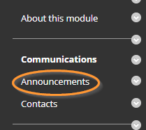 Announcements - where to click