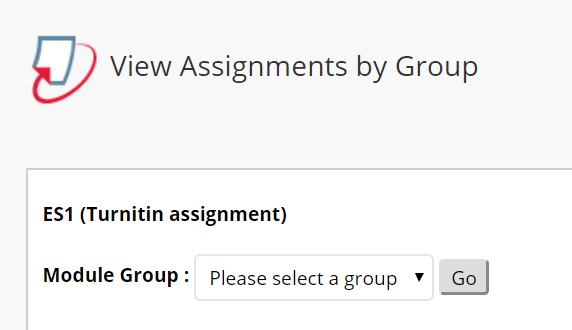 View Turnitin Assignments by Group