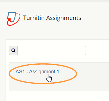 Turnitin assignments are listed in the order they were created, not alphabetically