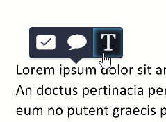 The inline button is represented with an icon of the capital letter T
