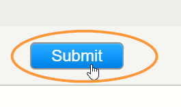 The Turnitin submit button is located at the bottom of the Turnitin iframe
