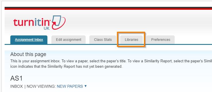Screenshot - Click the Libraries tab at the top