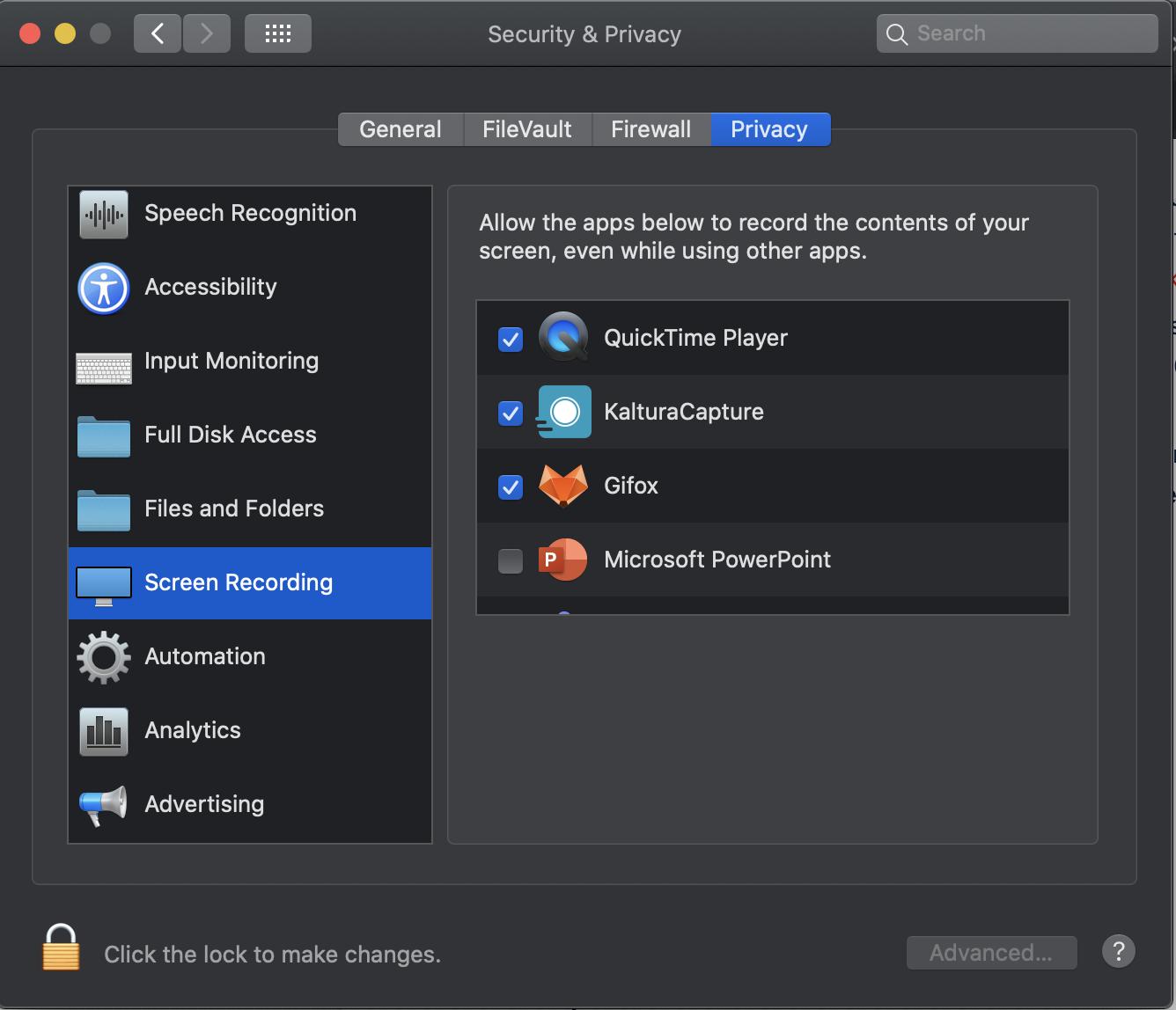 The MacOS Applications folder