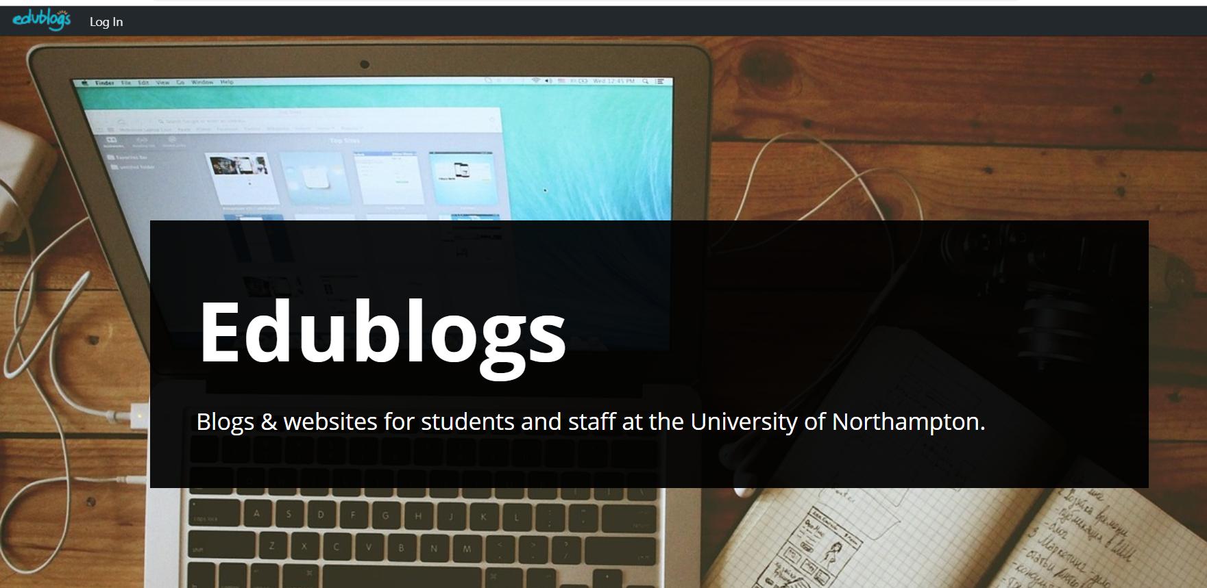 edublogs home screen