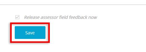Save Assessor Feedback
