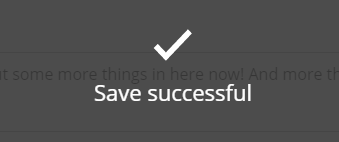 Save successful