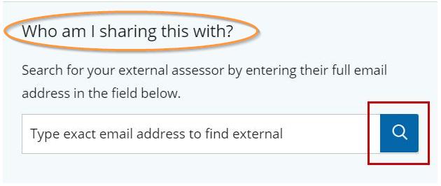 external assessor share