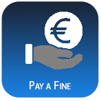 hand with euro symbol icon for pay a fine