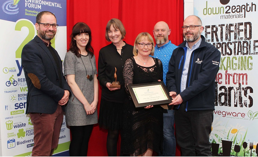 image of the green energy group receiving the environmental forum award 2017