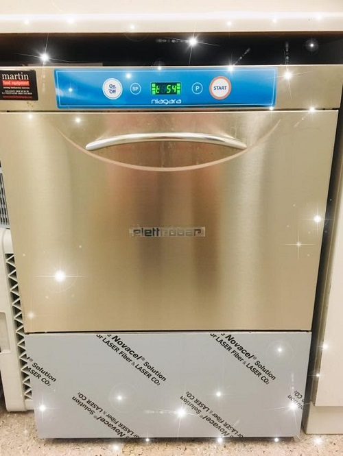 front of dishwasher