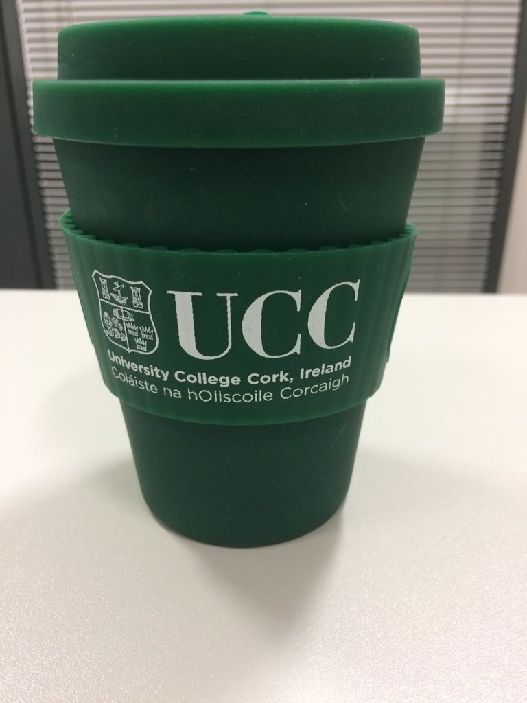 green bamboo reusable cup with UCC logo