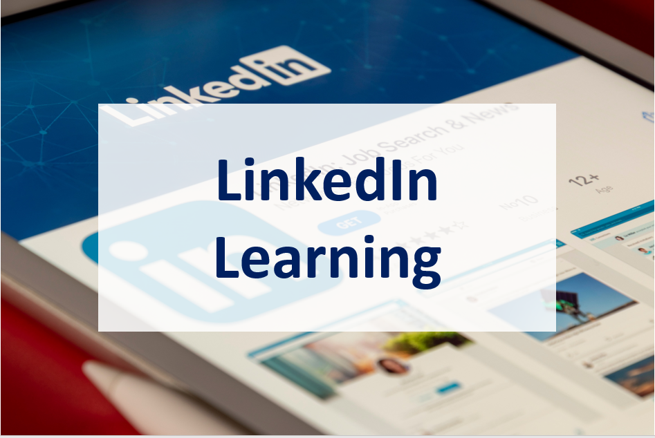 LinkedIn Learning link with image of a LinkedIn learning information page