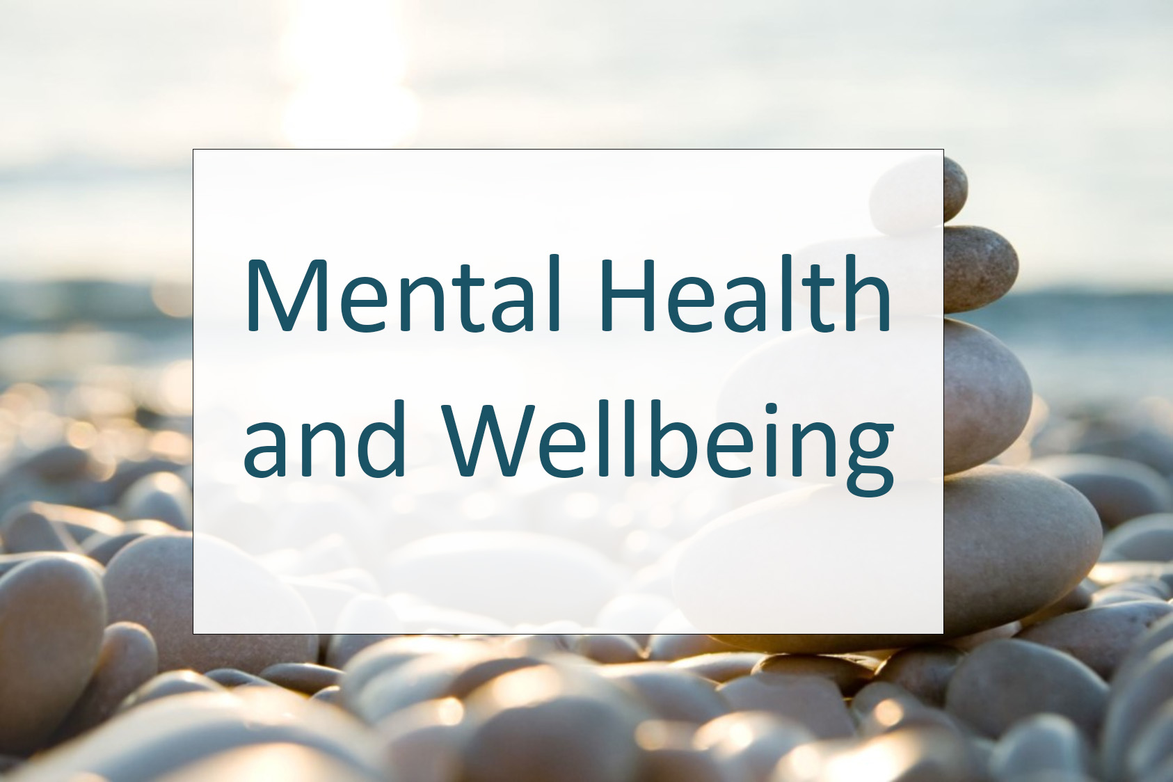 Mental Health and Wellbeing section