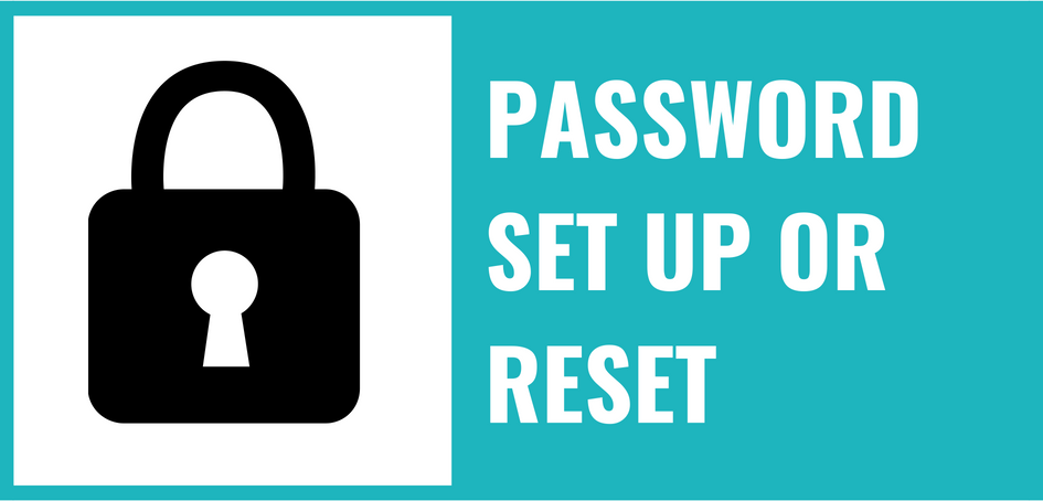 Password set up or reset