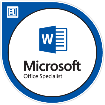 Microsoft Office Specialist Word Logo
