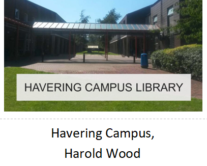 Link to Havering Campus Library, Harold Wood, webpages