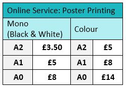 online poster printing prices