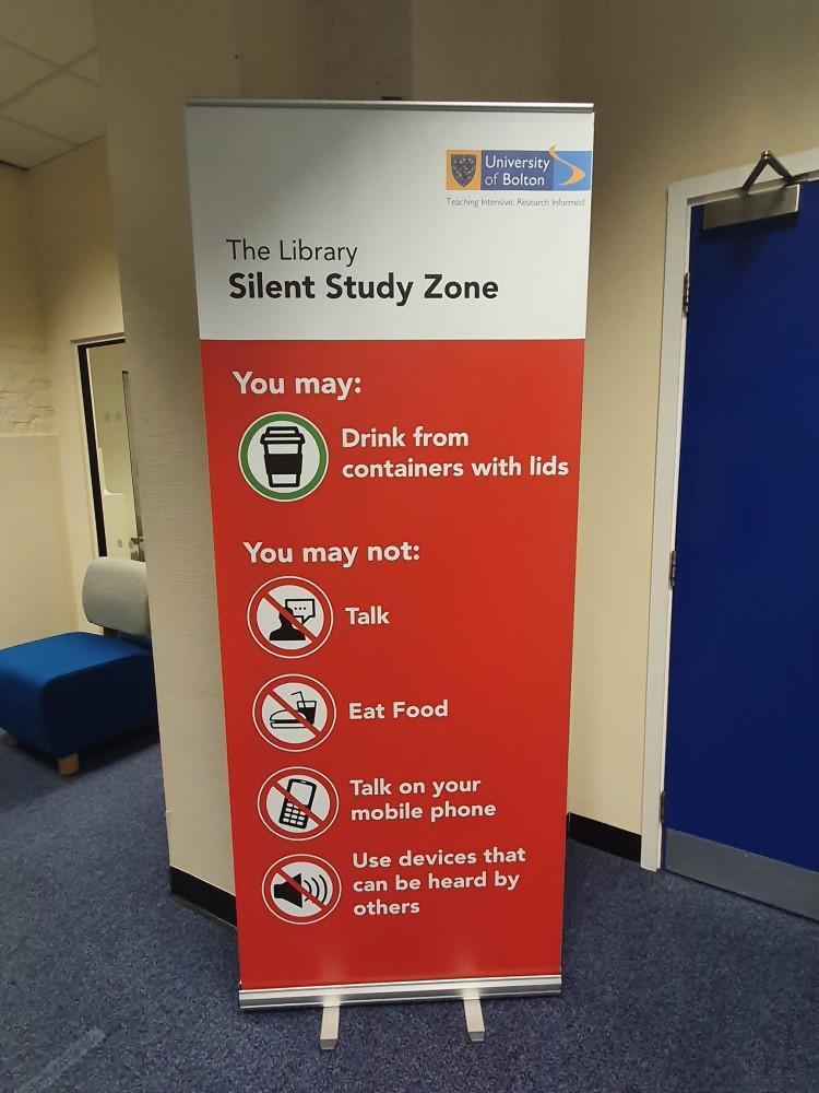 Silent Study Zone Banner