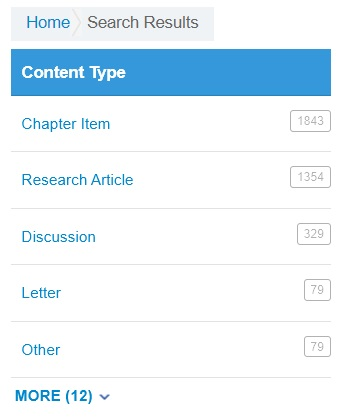 Content Type filters including Research Article