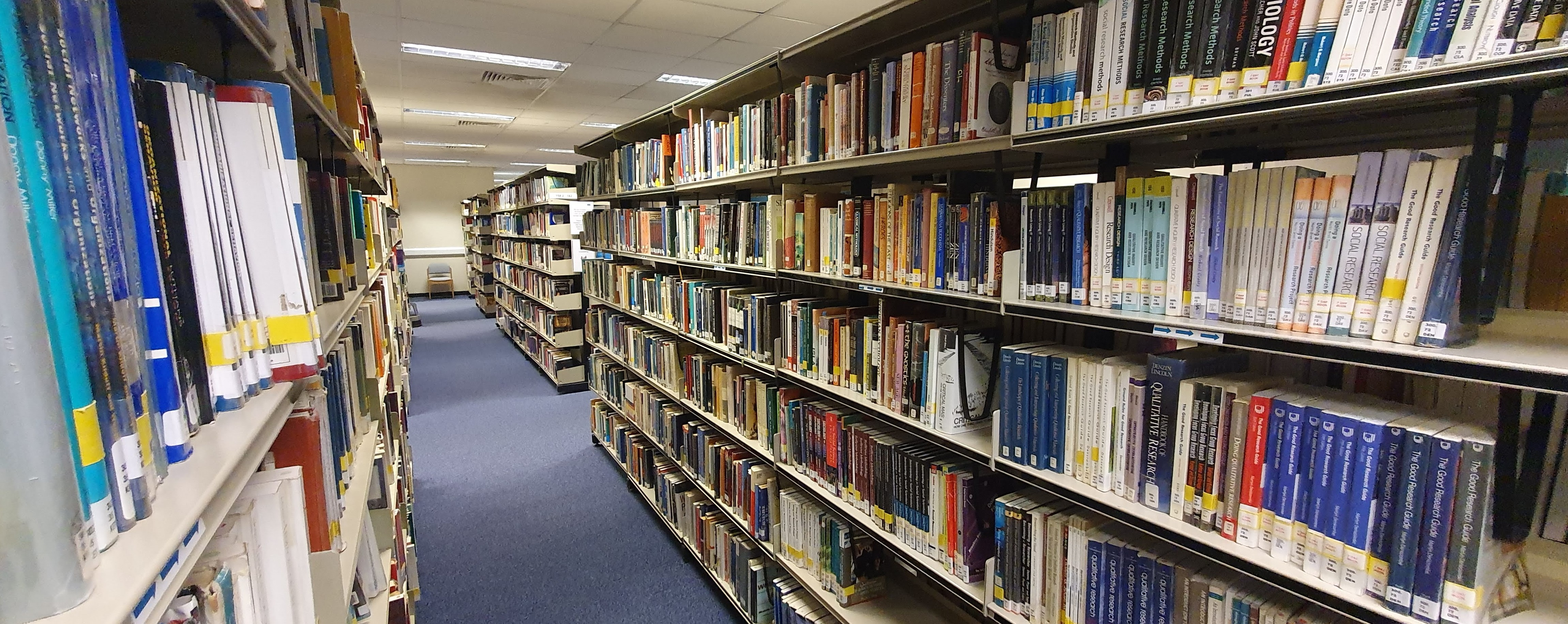 Peter Marsh Library shelves