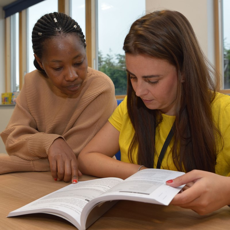 Social Work tutor working with student