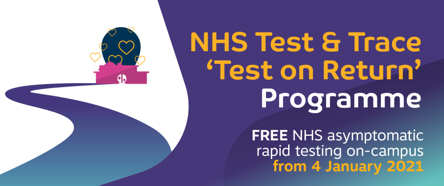NHS Test & Trace 'Test on Return' logo