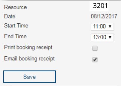 Booking popup
