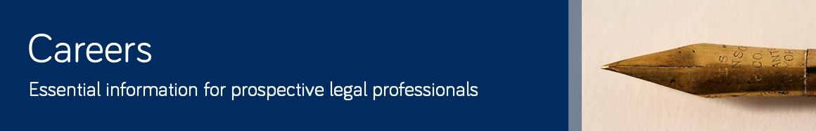 A link to Careers information for law students