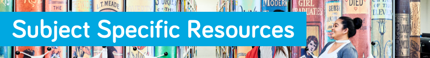 Subject specific resources page banner image