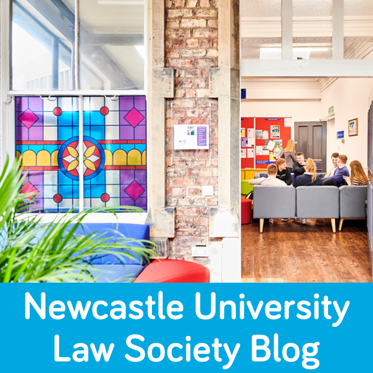 An image of Newcastle Law School students sitting in their common room.