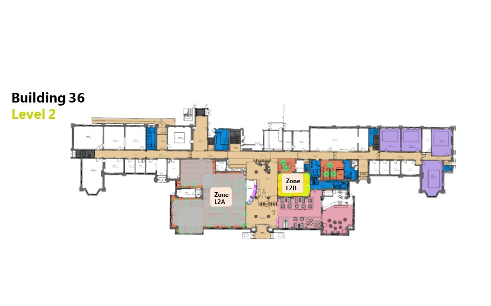 Hartley Library level 2 floor plan showing bookable zones
