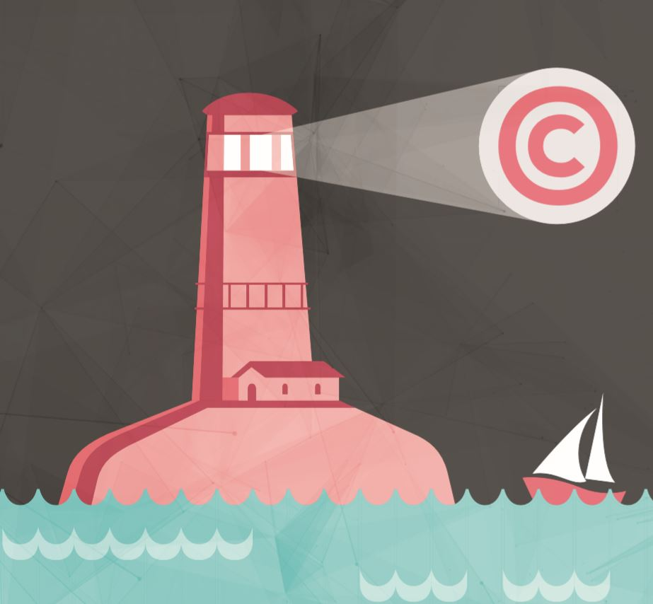 Illustrative image showing light tower at sea. Image by copyrightuser.org  https://www.copyrightuser.org/educate/enjoy/myth-reality-cards/released under CC-BY 3.0  license.