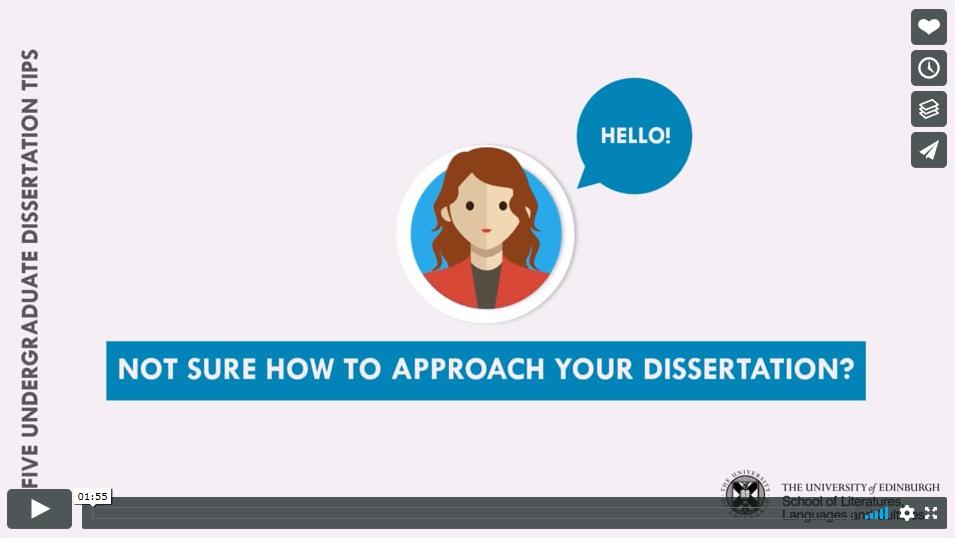 Undergraduate dissertation tips video