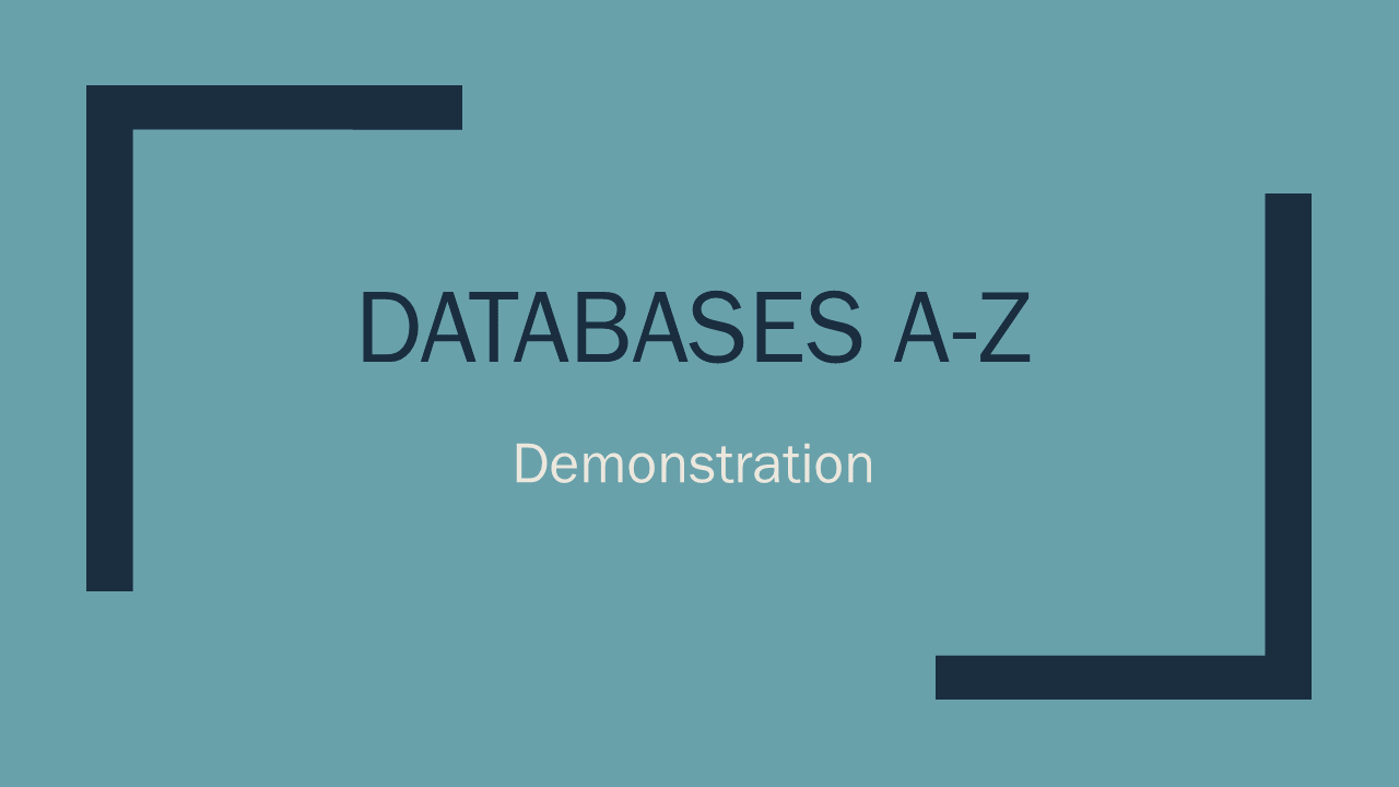 A-Z Database Demonstration