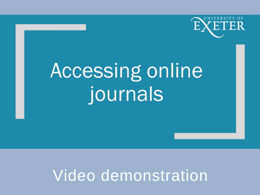 Accessinjg online journals video