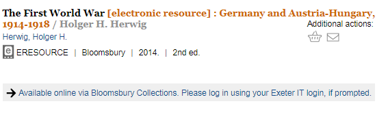 "Image of library catalogue record ""The first world war"""