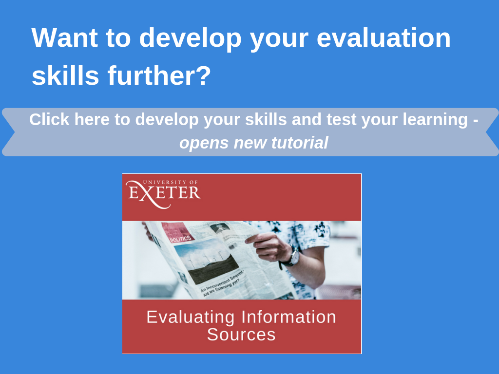 Click here to visit the evaluation tutorial